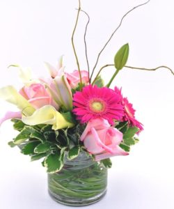 Precious Posies Floral Bouquet - Pink and Green